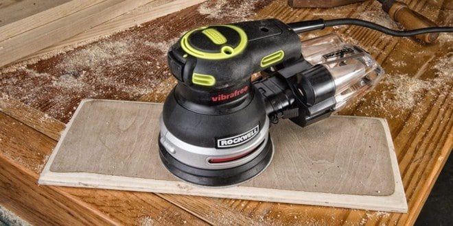 Using an Orbital Sander to Remove Paint