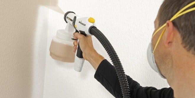 Start spraying the walls
