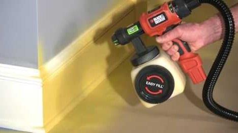 Start spraying the trim