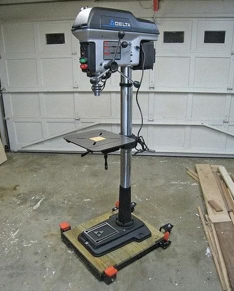 Floor drill press example