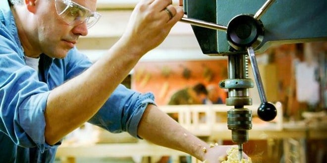 Using a drill press